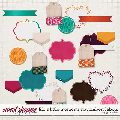 Life's Little Moments November: Labels by Grace Lee