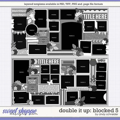 Cindy's Layered Templates - Double It Up: Blocked 5 by Cindy Schneider