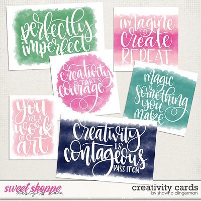 Creativity Cards by Shawna Clingerman