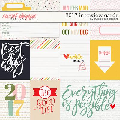 2017 In Review Cards by Studio Basic