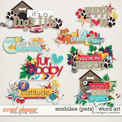 Zoobilee {Pets} : Word Art by Meagan's Creations