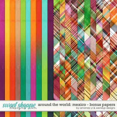 Around the world: Mexico - Bonus Papers by Amanda Yi & WendyP Designs