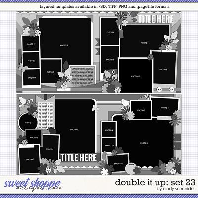 Cindy's Layered Templates - Double It Up Set 23 by Cindy Schneider