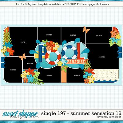 Cindy's Layered Templates - Single 197: Summer Sensation 16 by Cindy Schneider