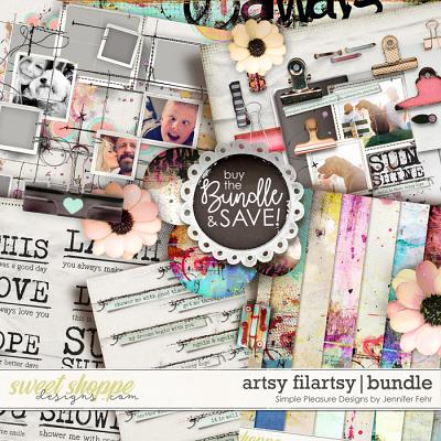 artsy filartsy bundle: simple pleasure designs by jennifer fehr