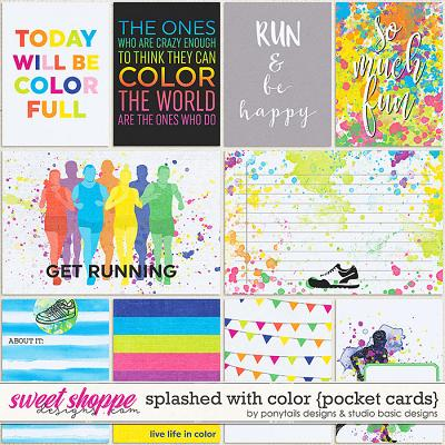 Splashed With Color Cards by Ponytails Designs & Studio Basic