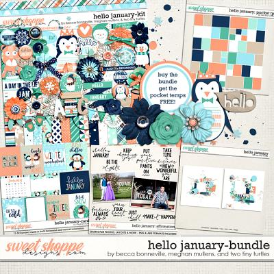 Hello January Bundle by Becca Bonneville, Meghan Mullens & Two Tiny Turtles