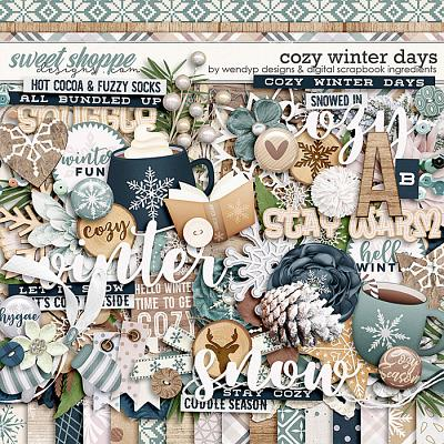Cozy winter days by Digital Scrapbook Ingredients & WendyP Designs