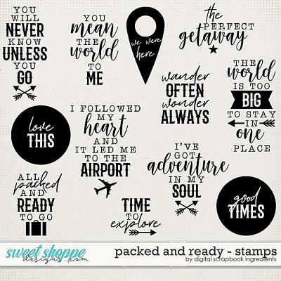 Packed And Ready | Stamps by Digital Scrapbook Ingredients