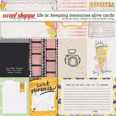 Life Is: Keeping Memories Alive Cards by Studio Basic and Little Butterfly Wings