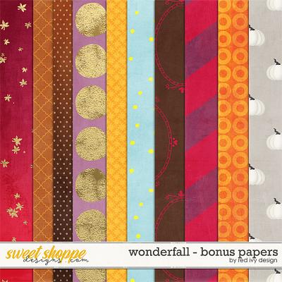 Wonderfall - Bonus Papers by Red Ivy Design