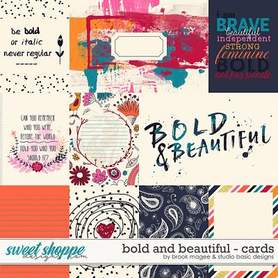 Bold And Beautiful Cards by Brook Magee and Studio Basic Designs