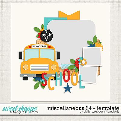 Miscellaneous 24 Template by Digital Scrapbook Ingredients