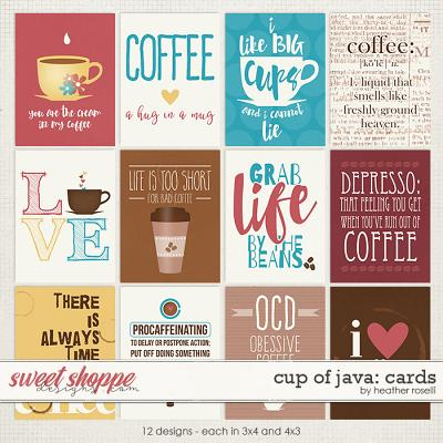 Cup of Java: Cards by Heather Roselli