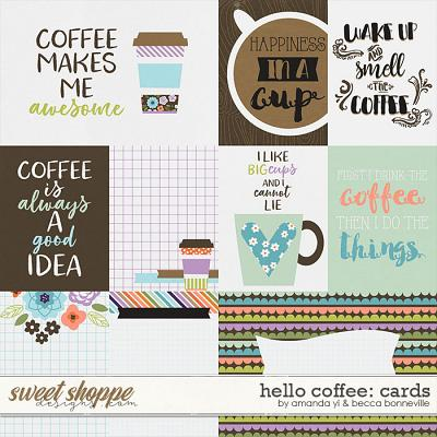 Hello Coffee Cards by Amanda Yi & Becca Bonneville