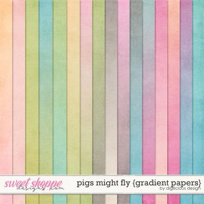 Pigs Might Fly {Gradient Papers} by Digilicious Design