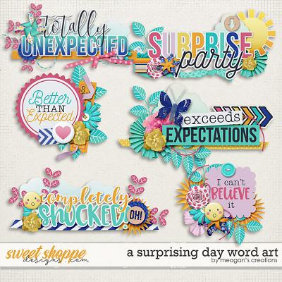 A Surprising Day Word Art by Meagan's Creations
