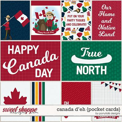 Canada D'Eh Pocket Cards by Ponytails