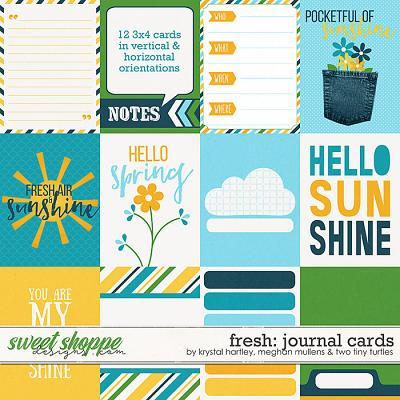 Fresh Journal Cards by Krystal Hartley, Meghan Mullens & Two Tiny Turtles