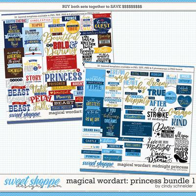 Cindy's Magical Wordart: Princess Bundle 1 by Cindy Schneider