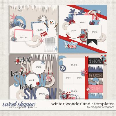 Winter Wonderland :  Templates by Meagan's Creations