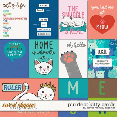 Purrfect Kitty Cards by Clever Monkey Graphics