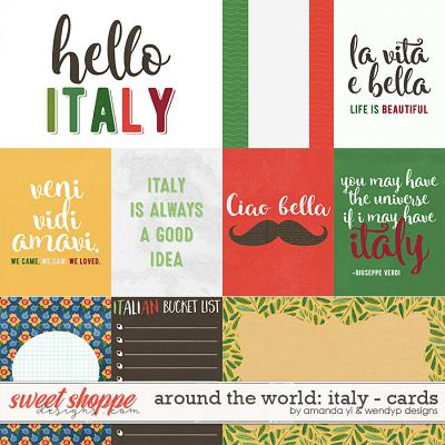 Around the world: Italy - Cards by Amanda Yi and WendyP Designs