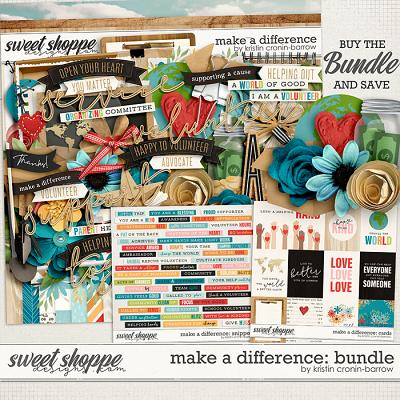 Make a Difference: Bundle by Kristin Cronin-Barrow