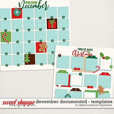 December Documented Templates by Digital Scrapbook Ingredients