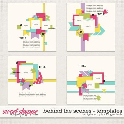 Behind The Scenes Templates by Digital Scrapbook Ingredients