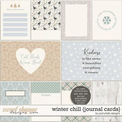Winter Chill Journal Cards by Ponytails