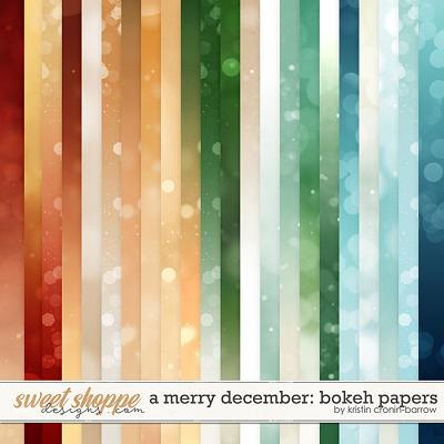 A Merry December: Bokeh Papers by Kristin Cronin-Barrow