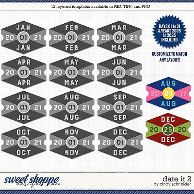 Cindy's Layered Templates - Date It 2 by Cindy Schneider