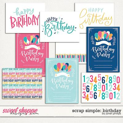 Scrap Simple: Birthday Journaling Cards by Janet Phillips
