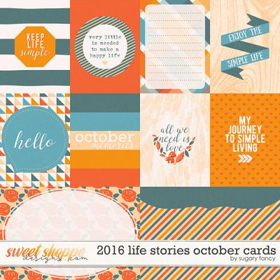 2016 Life Stories - October Cards by Sugary Fancy