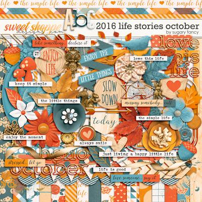 2016 Life Stories - October Kit by Sugary Fancy