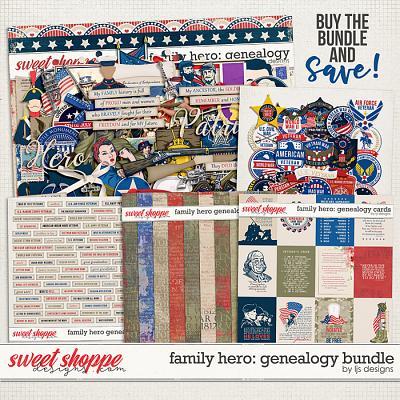 Family Hero: Genealogy Bundle by LJS Designs