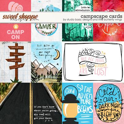 Campscape Cards by Studio Basic and Little Butterfly Wings