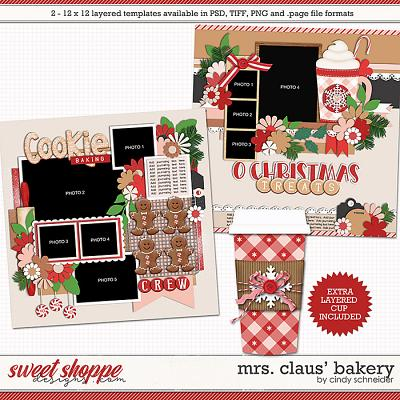 Cindy's Layered Templates - Mrs. Claus' Bakery by Cindy Schneider