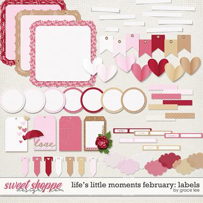 Life's Little Moments February Labels by Grace Lee