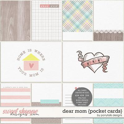 Dear Mom Pocket Cards by Ponytails