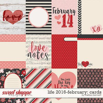 Life 2016-February Cards by Melissa Bennett