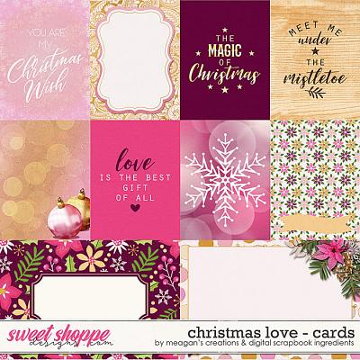 Christmas Love: Cards by Digital Scrapbook Ingredients and Meagan's Creations