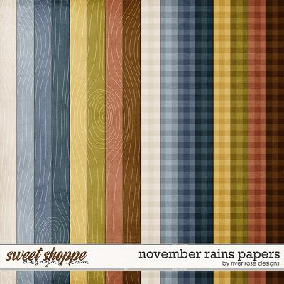 November Rains Papers by River Rose Designs