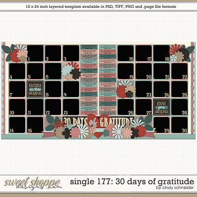 Cindy's Layered Templates - Single 177: 30 Days of Gratitude by Cindy Schneider