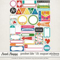 Pocket Life '15: August Stickers by Traci Reed
