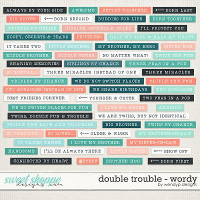 Double Trouble - wordy by WendyP Designs