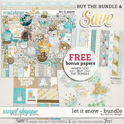 Let It Snow - Bundle by Red Ivy Design
