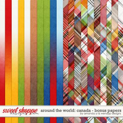 Around the world: Canada - Bonus Papers by Amanda Yi & WendyP Designs