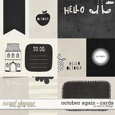 October Again - Cards by Red Ivy Design